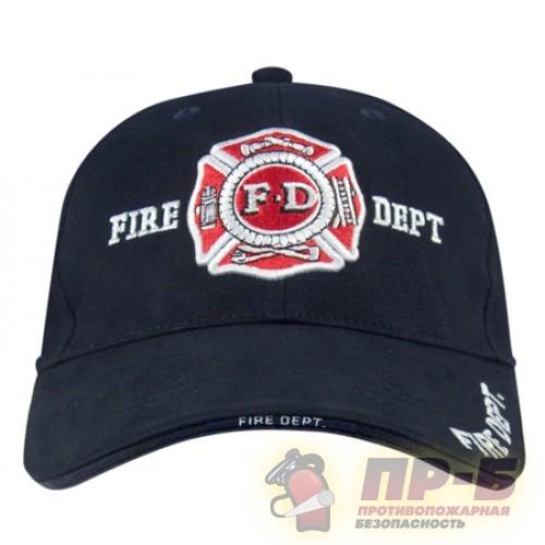 Бейсболка пожарная FD Fire Dept чёрная -