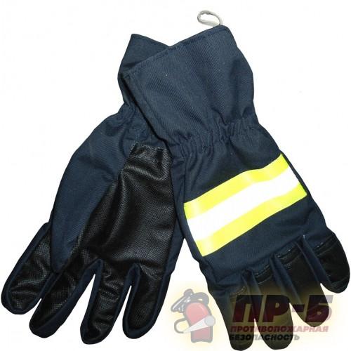 Перчатки пожарного ткань АП, + ткань с керамическим покрытием + полотно «Огнетекс-А», темно-синий цвет - Перчатки и рукавицы специальные