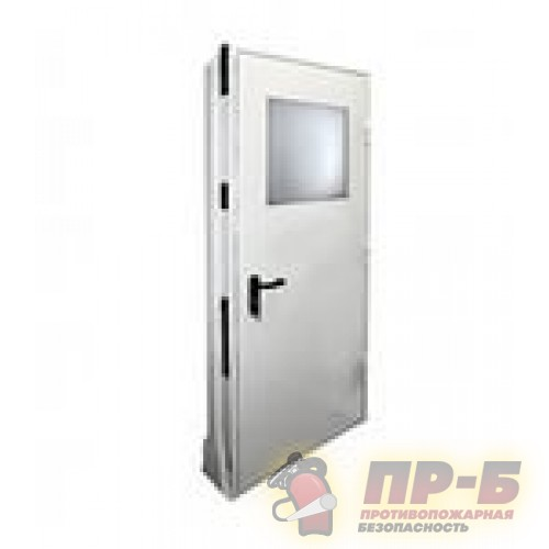 Дверь ДПМ-01/60-О (EI 60) остекленная - Двери противопожарные