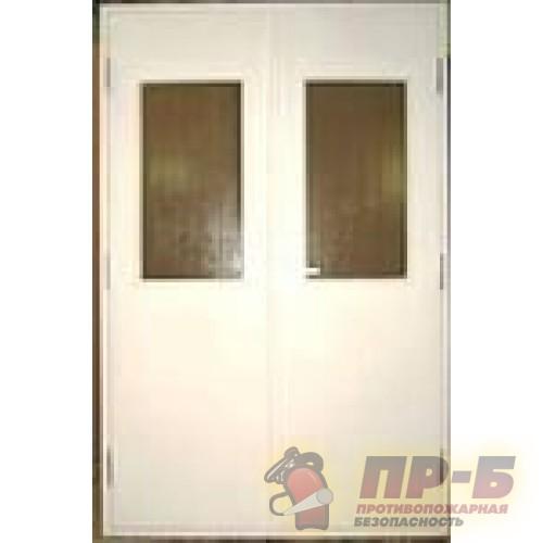 Дверь ДПМ-02/60-О двупольная остекленная - Двери противопожарные