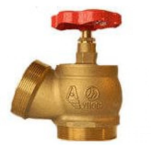 КПЛ 65-2 латунный 125° цапка - цапка - Клапан пожарный латунный угловой 125°