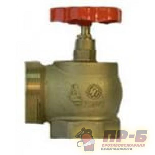 КПЛМ 50-1 латунный 90° муфта - цапка - Клапан пожарный латунный угловой 90°