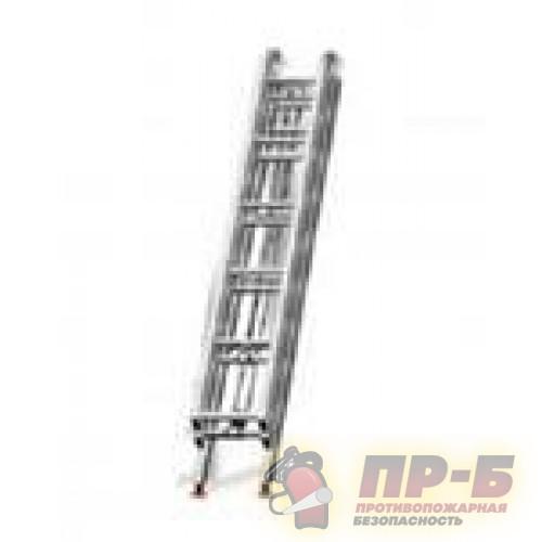 Лестница трехколенка выдвижная - Лестницы, веревки пожарные