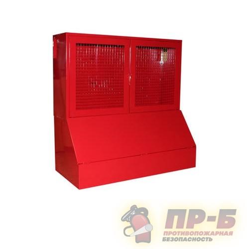 Стенд окно - сетка с ящиком 0,3 м. куб. - Стенды пожарные