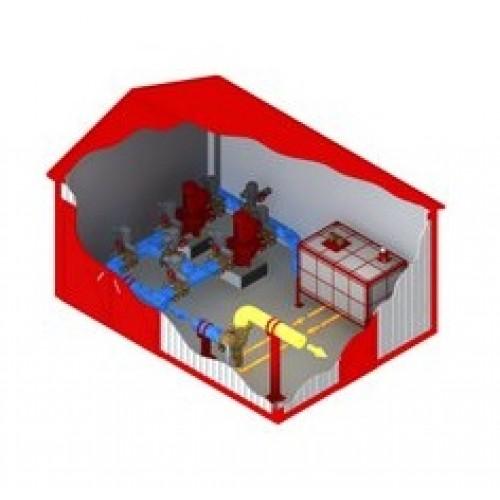 Блочно-модульные здания для систем пожаротушения -
