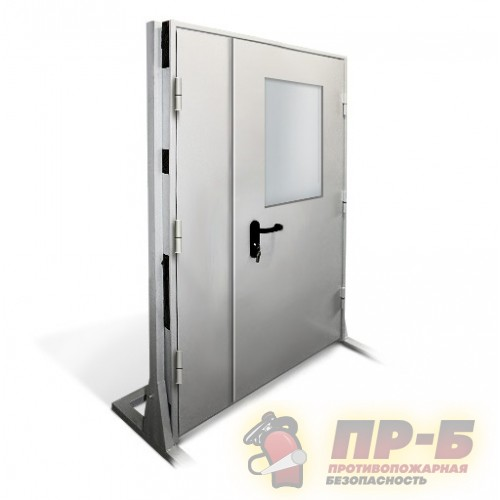 Дверь противопожарная двупольная с остеклением 1200?2100 EI-30 - Двери противопожарные