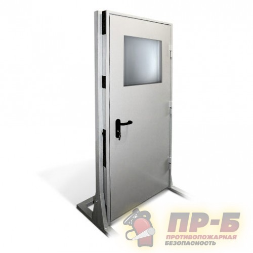 Дверь противопожарная однопольная с остеклением 800?2100 EI-60 - Двери противопожарные