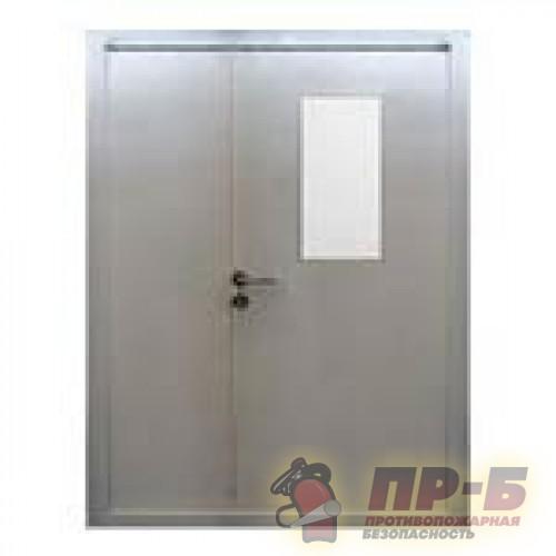 Дверь противопожарная остекленная двупольная (EI-30, EI-60) - Двери противопожарные