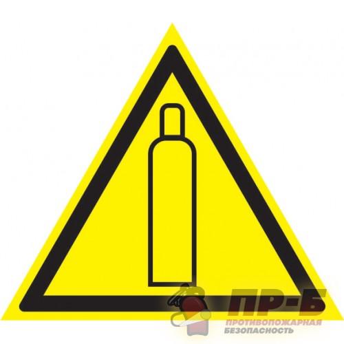 Газовый баллон - Предупреждающие знаки