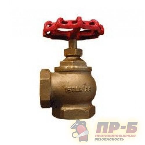 Клапан AVH-50 угловой Ду-50 латунь, муфта/муфта 90° - Клапан пожарный латунный угловой 90°