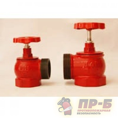 Клапан пожарных кранов модернизированный чугунный угловой 90° Ду 50 Ду 65 Ру 1,6 МПа. - Клапан пожарный чугунный угловой 90°