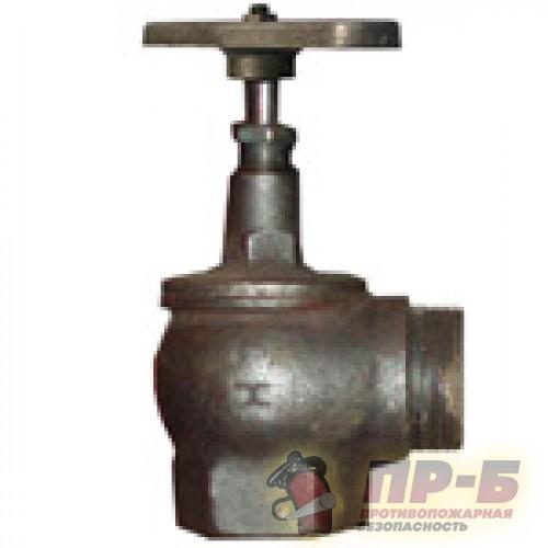 Клапан пожарного крана 15КЧ11Р 50 мм м-ц - Клапан пожарный чугунный угловой 90°