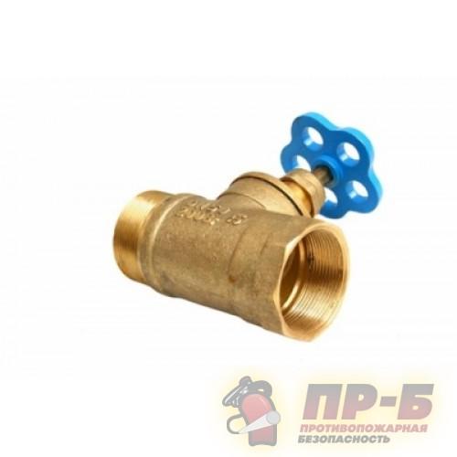Клапан пожарного крана прямой латунный 15-Б3Р муфта/цапка - Клапан пожарный прямоточный