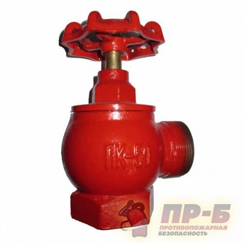 Клапан пожарного крана угловой чугунный КПЧ-50 - Клапан пожарный чугунный угловой 90°