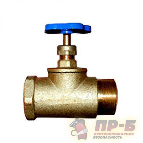 Клапан запорный 15Б3р DN 50 Ру 1,6 МПА муфта - цапка - Клапан пожарный прямоточный