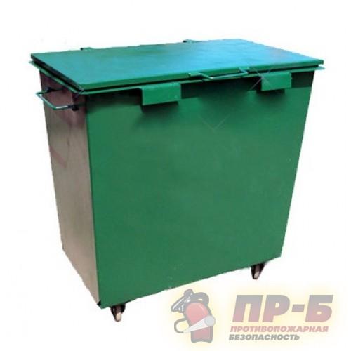 Контейнер для мусора 0,8 м3 металлический (на колесах) - Изделия из композиционных материалов (армированный пластик)