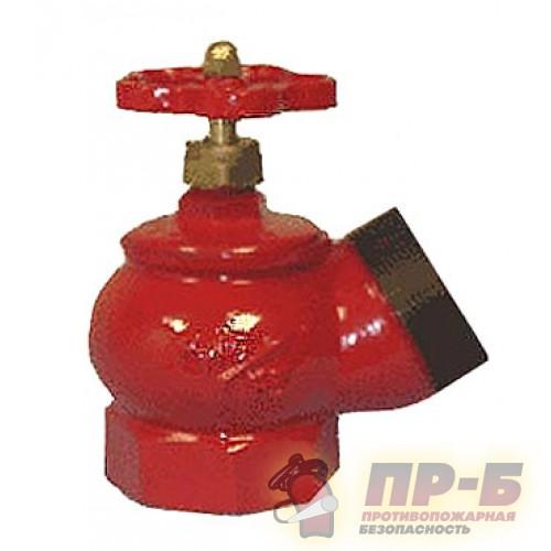 КПЧ 50-1 чугунный 125° муфта - цапка - Клапан пожарный чугунный угловой 125°