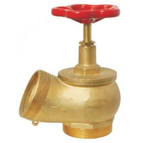 КПЛМ 50-1 латунный 90° цапка - цапка - Клапан пожарный латунный угловой 90°