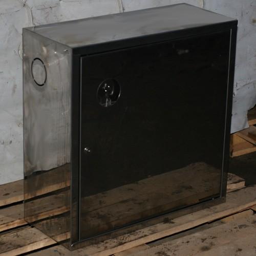 Металлический пожарный шкаф (сталь) -