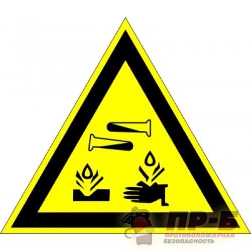 Опасно! Едкие и коррозионные вещества - Предупреждающие знаки
