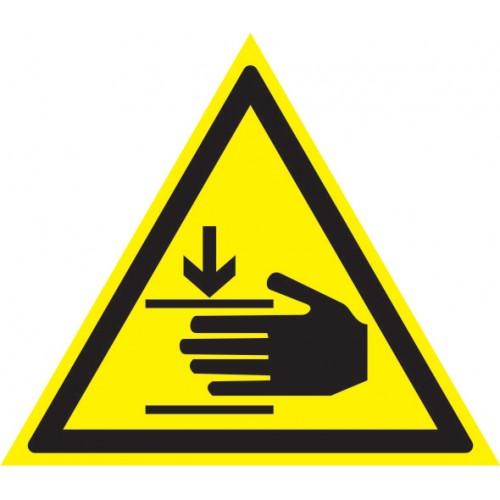 Осторожно. Возможно травмирование рук -