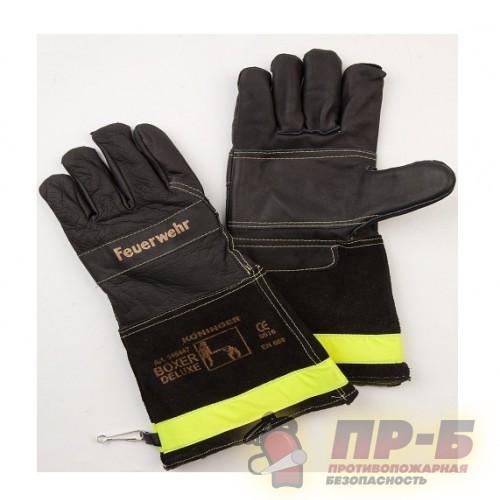Перчатки пожарного Boxer de luxe c длинной манжетой (Кожа, Keвлар) - Перчатки и рукавицы специальные