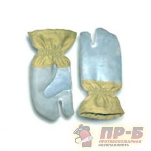 Перчатки трехпалые специальные для пожарных ткань АП, горчичный цвет - Перчатки и рукавицы специальные