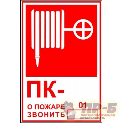 ПК- о пожаре звонить 01 - Знаки пожарной безопасности
