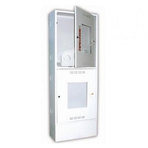 Пожарный шкаф ПРЕСТИЖ-03-ПОБ приставной, открытый, белый -