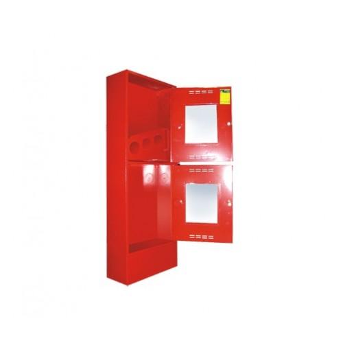 Пожарный шкаф ПРЕСТИЖ-03-ПОК приставной, открытый, красный -