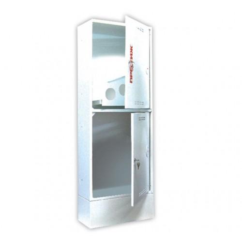 Пожарный шкаф ПРЕСТИЖ-03-ПЗБ приставной, закрытый, белый -