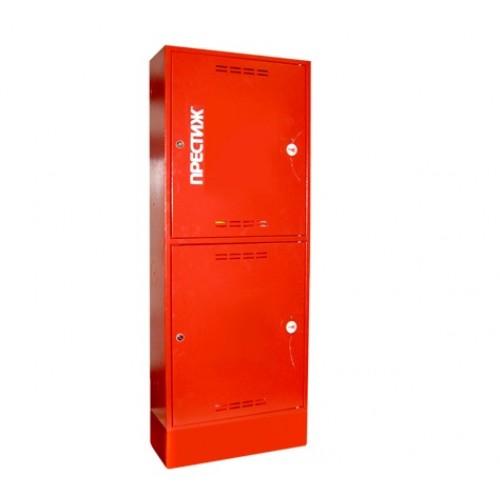 Пожарный шкаф ПРЕСТИЖ-03-ПЗК приставной, закрытый, красный -