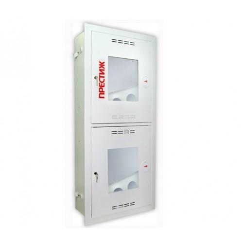 Пожарный шкаф ПРЕСТИЖ-03-ВОБ-2ПК (ШПК-320-21 ВОБ) встроенный, открытый, белый -