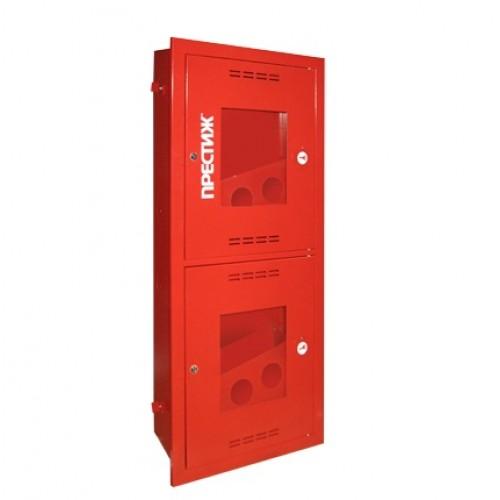 Пожарный шкаф ПРЕСТИЖ-03-ВОК-2ПК (ШПК-320-21 ВОК) встроенный, открытый, красный -