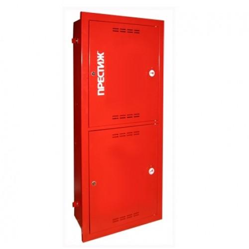 Пожарный шкаф ПРЕСТИЖ-03-ВЗК-2ПК (ШПК-320-21 ВЗК) встроенный, закрытый, красный -