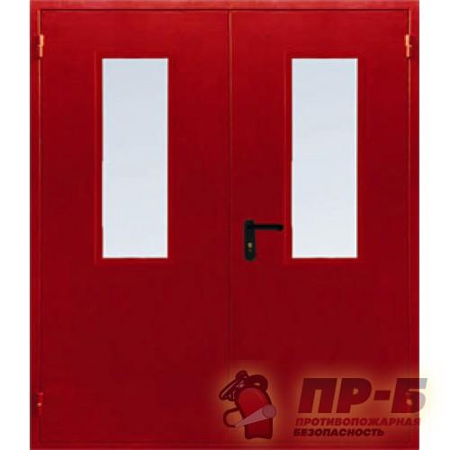 Противопожарная дверь двупольная ДПМ-02/30-О (EI-30, EI-60) остекленная - Двери противопожарные
