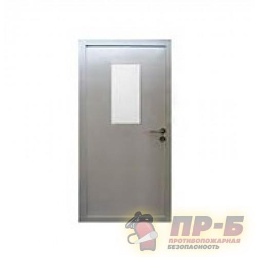 Противопожарная дверь однопольная ДПМ-01/30-О Пульс (остекленная) - Двери противопожарные