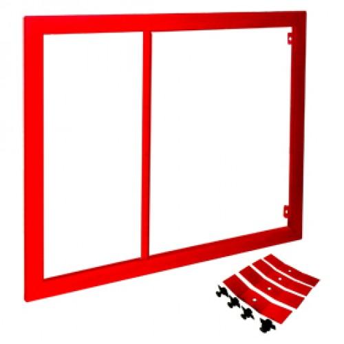 Рама для пожарных шкафов ПРЕСТИЖ-02 красная -