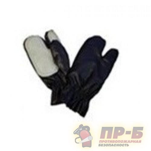 Рукавицы пожарного с крагами Винилискожа термостойкие + спилок - Перчатки и рукавицы специальные