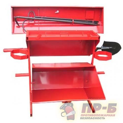 Стенд пожарный металлический открытого типа с бункером для песка - Пожарные щиты, стенды и ящики для песка