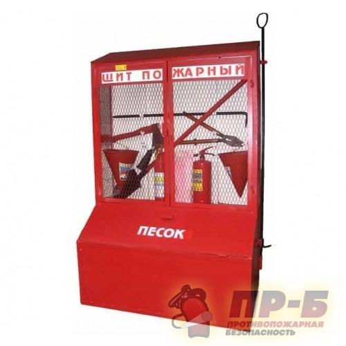 Стенд пожарный металлический закрытого типа с ящиками для песка - Стенды пожарные