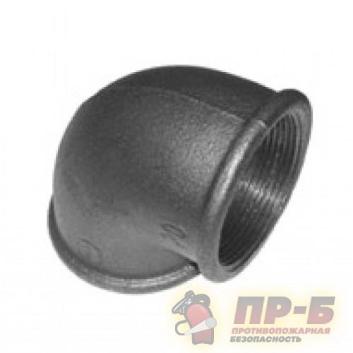 Угольник Ду-50 черный муфтовый 90° - Переходники