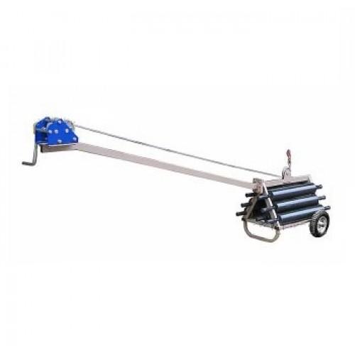 Установка ТЦ-46 для испытаний на прочность наружных стационарных пожарных лестниц. -