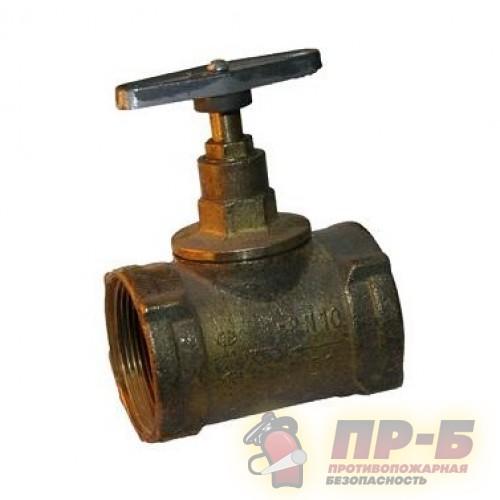 Вентиль 15Б3Р прямой Ду-50 латунь, муфта/муфта - Клапан пожарный прямоточный