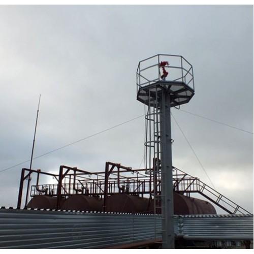 Вышка пожарная лафетного ствола с площадкой для работы ЛС, ВП 10м -