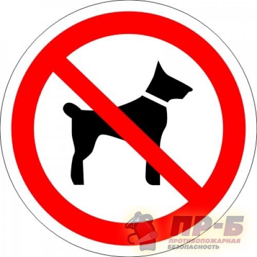 Запрещается вход (проход) с животными - Запрещающие знаки