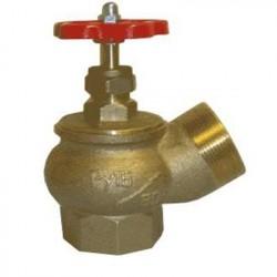 Клапан пожарный латунный угловой 125°